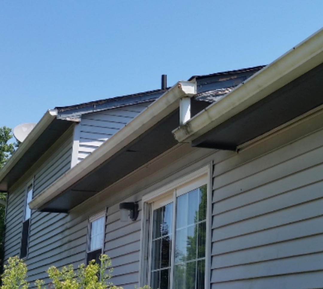 before seamless gutters